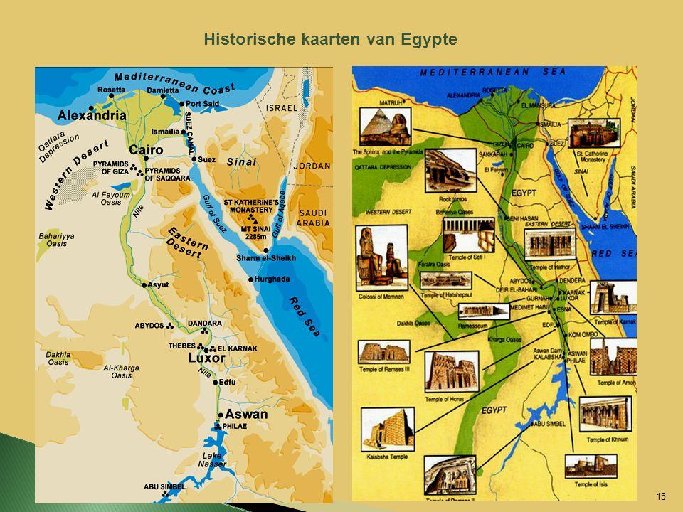 Historische kaarten van Egypte