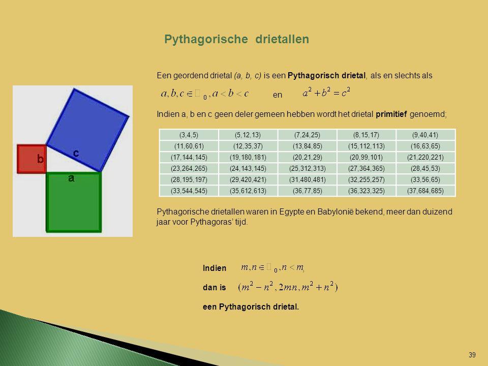Pythagorische drietallen