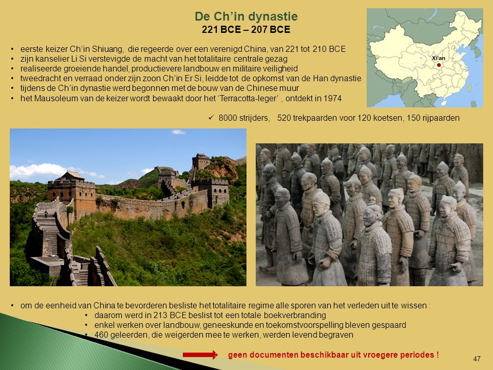 De Ch'in dynastie 221 BCE – 207 BCE