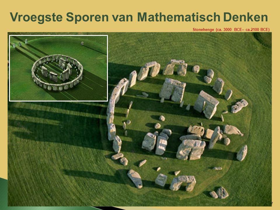 Vroegste Sporen van Mathematisch Denken