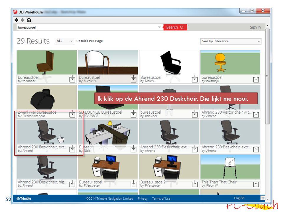 Ik klik op de Ahrend 230 Deskchair. Die lijkt me mooi.