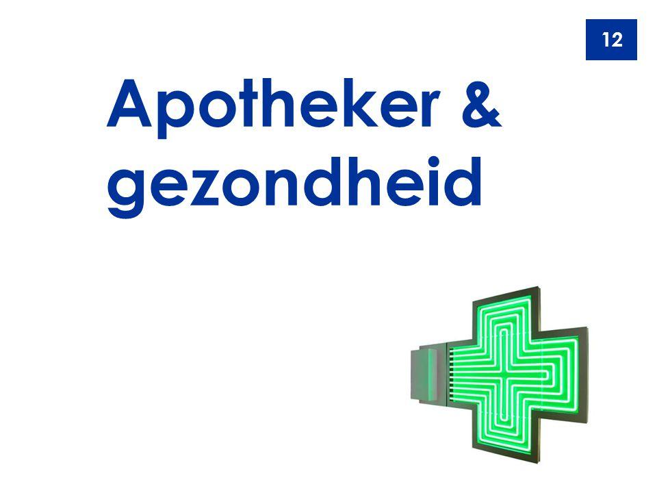 Apotheker & gezondheid