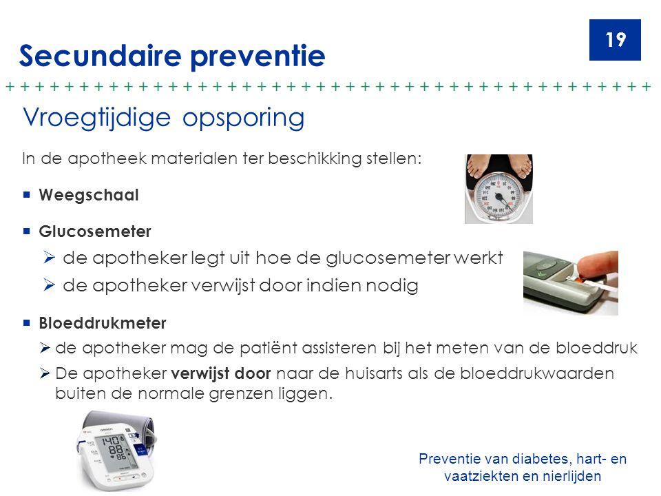 Preventie van diabetes, hart- en vaatziekten en nierlijden