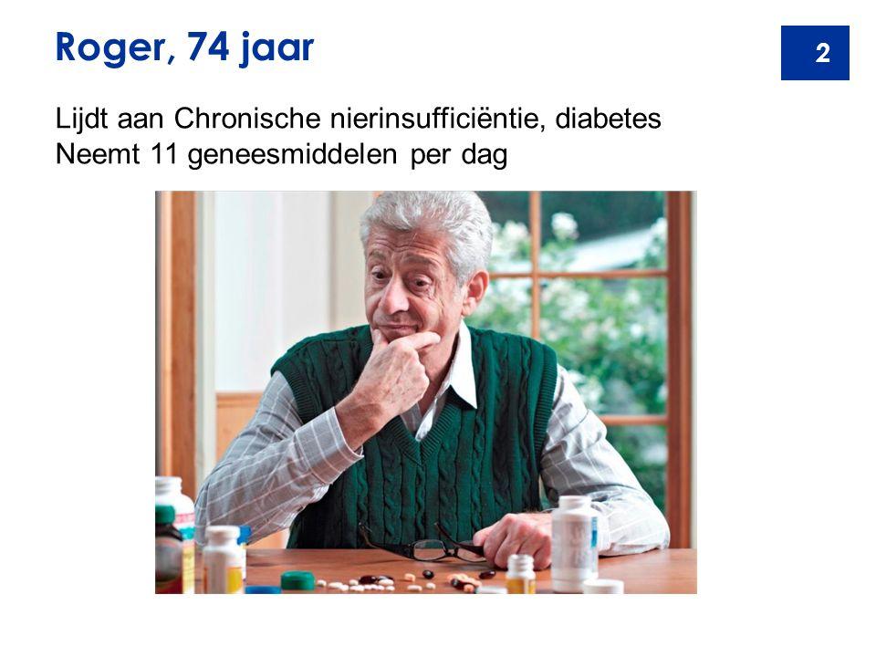 Roger, 74 jaar Lijdt aan Chronische nierinsufficiëntie, diabetes