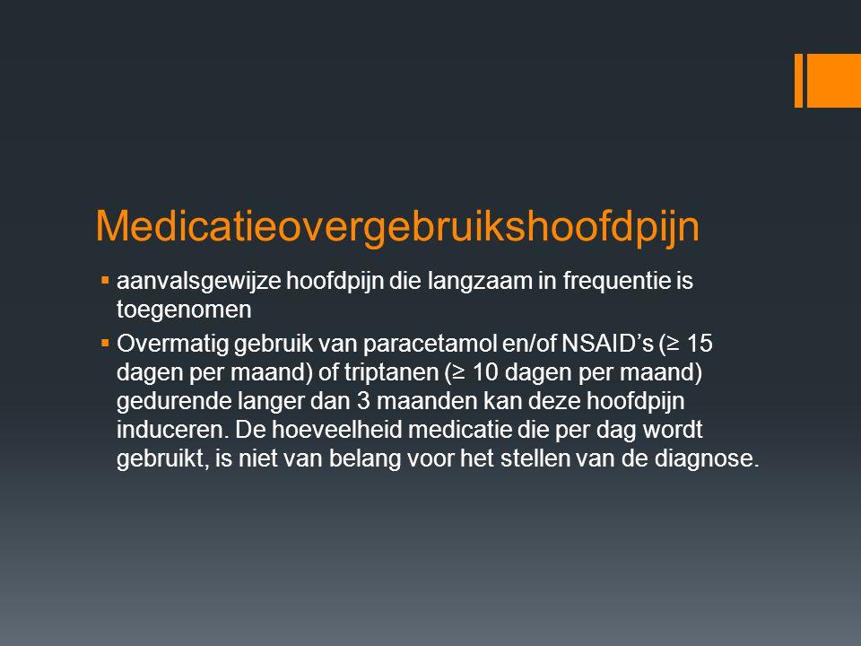 Medicatieovergebruikshoofdpijn