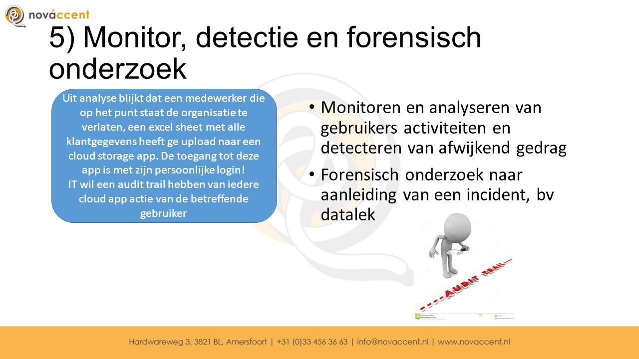 5) Monitor, detectie en forensisch onderzoek