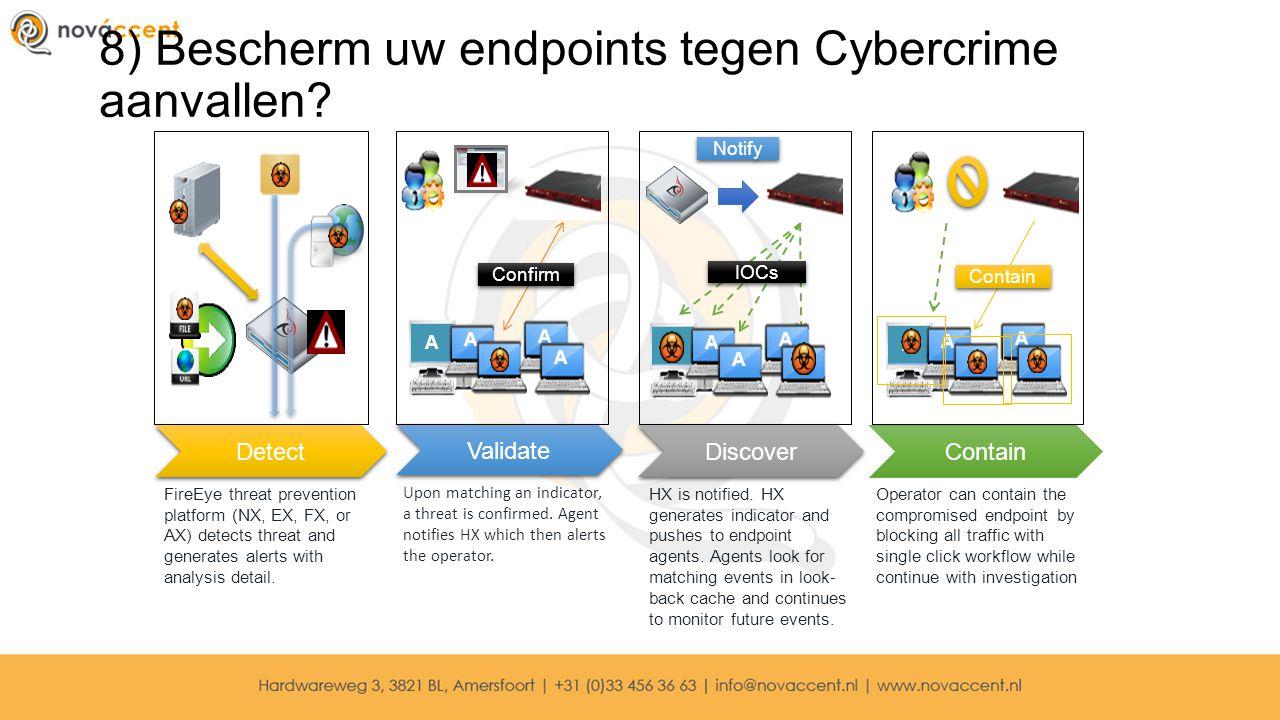 8) Bescherm uw endpoints tegen Cybercrime aanvallen