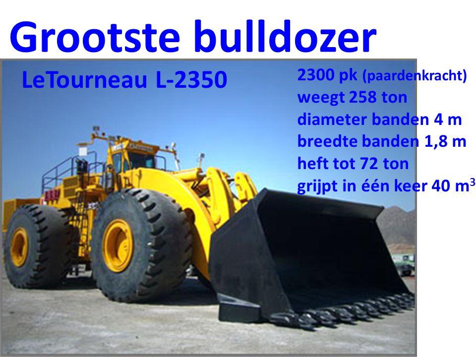 Grootste bulldozer LeTourneau L-2350 2300 pk (paardenkracht)