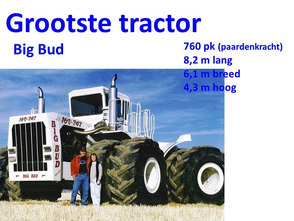 Grootste tractor Big Bud 760 pk (paardenkracht) 8,2 m lang 6,1 m breed