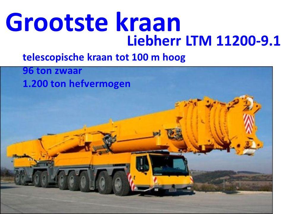 Grootste kraan Liebherr LTM 11200-9.1
