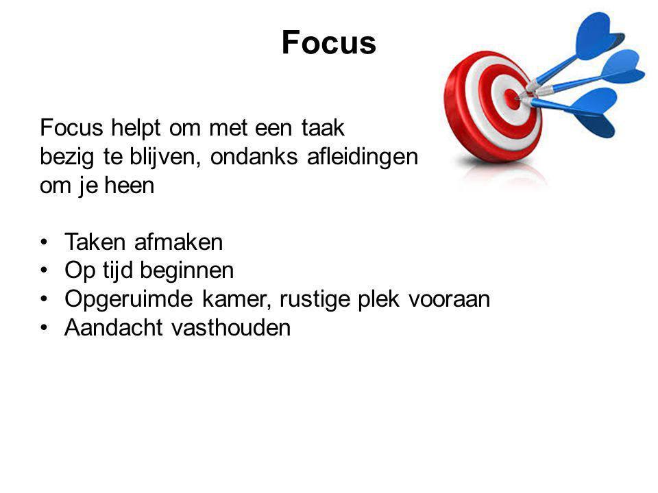 Focus Focus helpt om met een taak