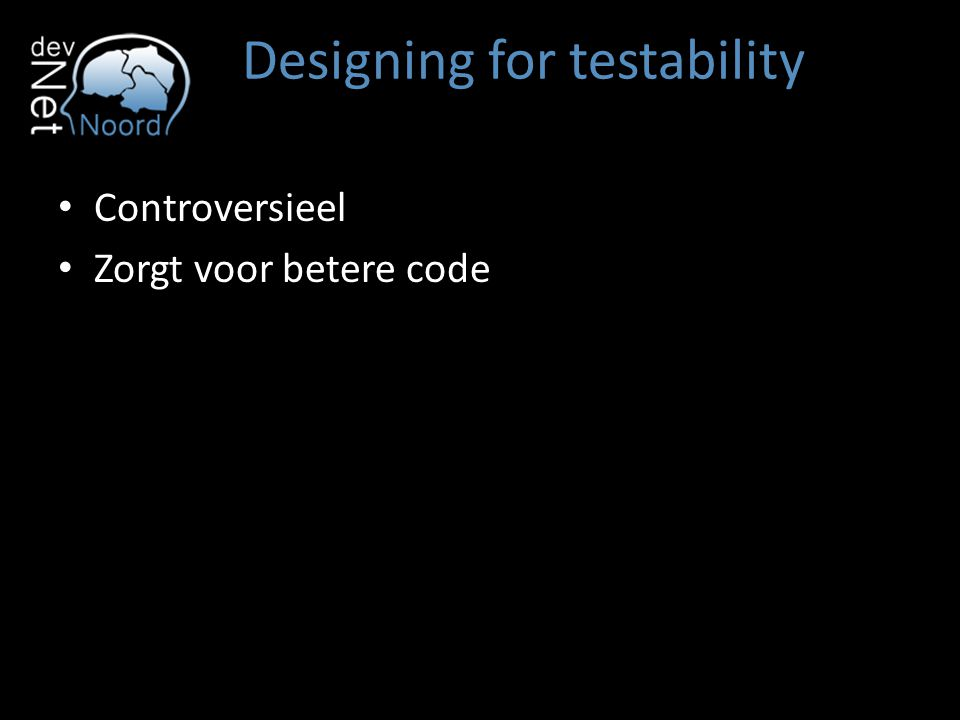 Designing for testability