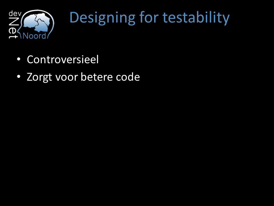 Designing for testability