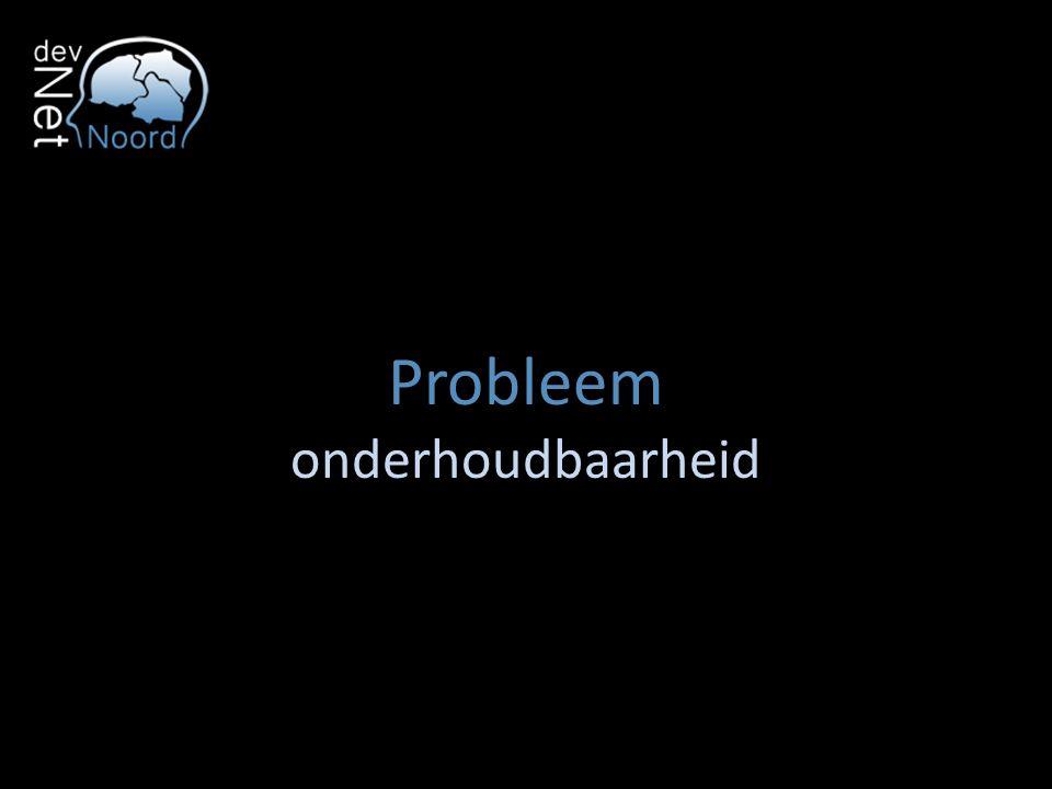 Probleem onderhoudbaarheid