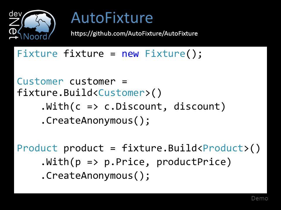 AutoFixture https://github.com/AutoFixture/AutoFixture.