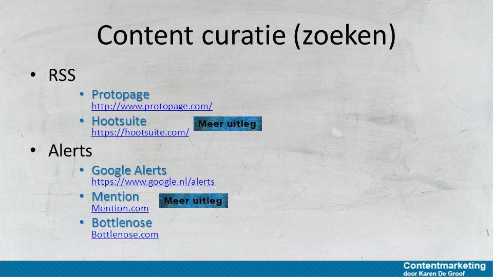 Content curatie (zoeken)