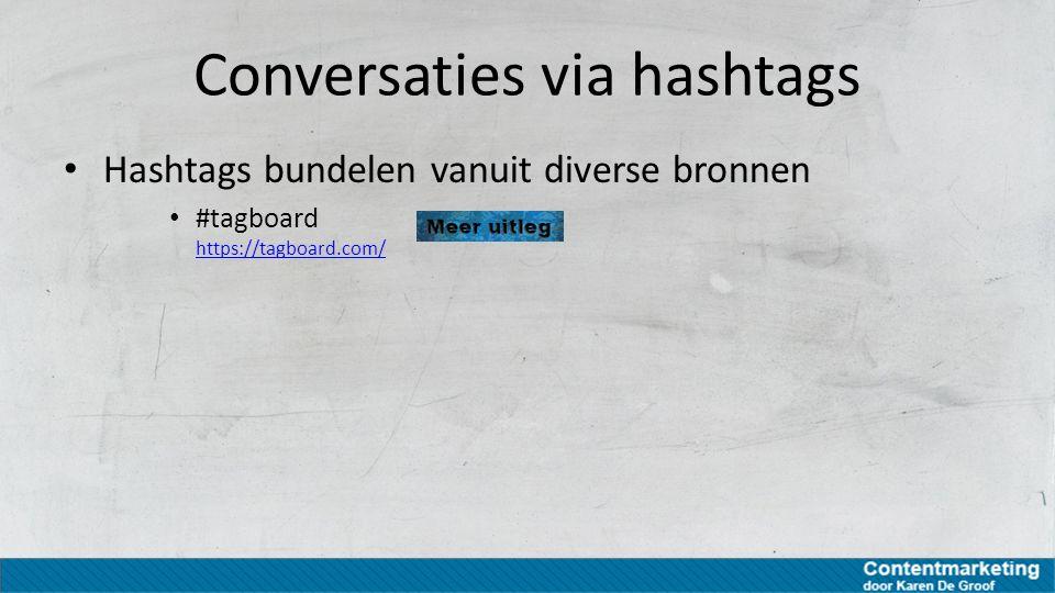 Conversaties via hashtags