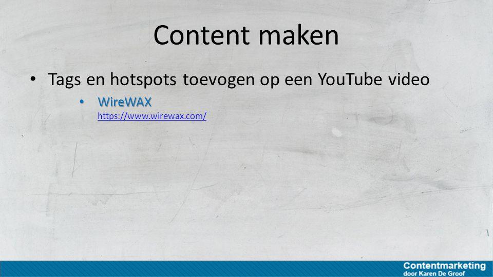 Content maken Tags en hotspots toevogen op een YouTube video