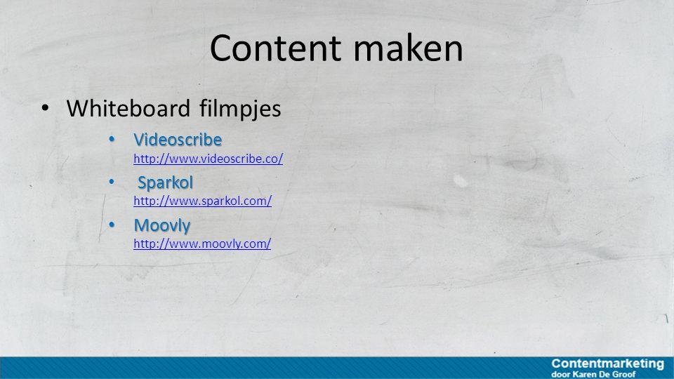Content maken Whiteboard filmpjes