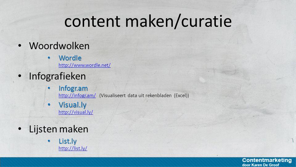 content maken/curatie