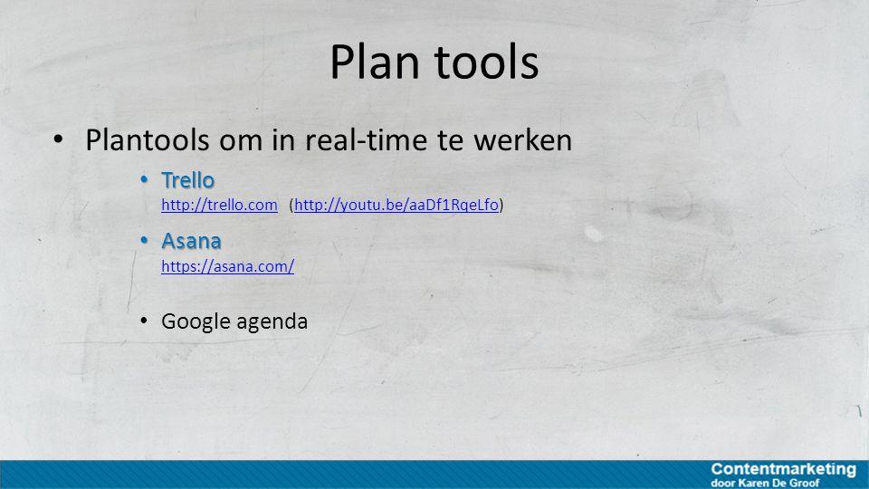 Plan tools Plantools om in real-time te werken