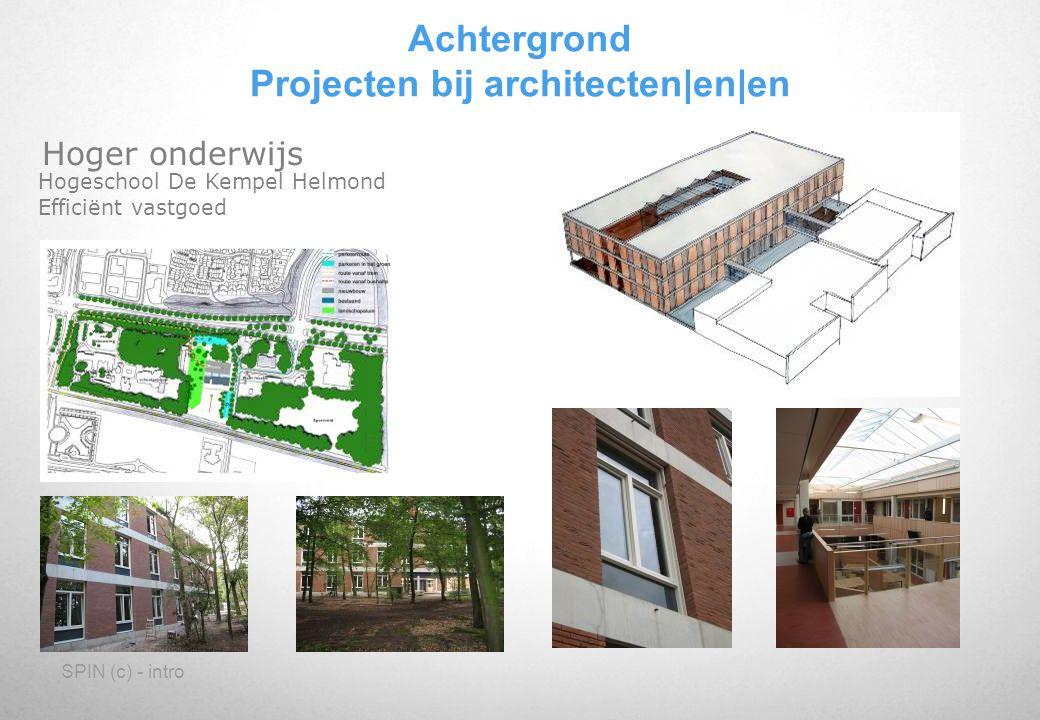 Achtergrond Projecten bij architecten|en|en