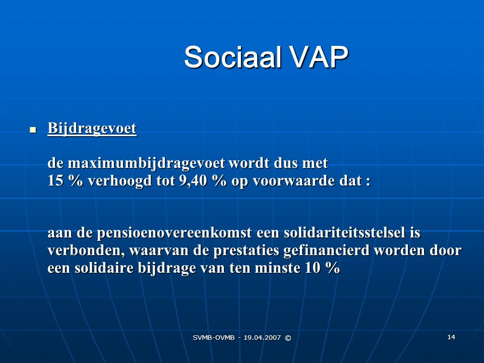 Sociaal VAP