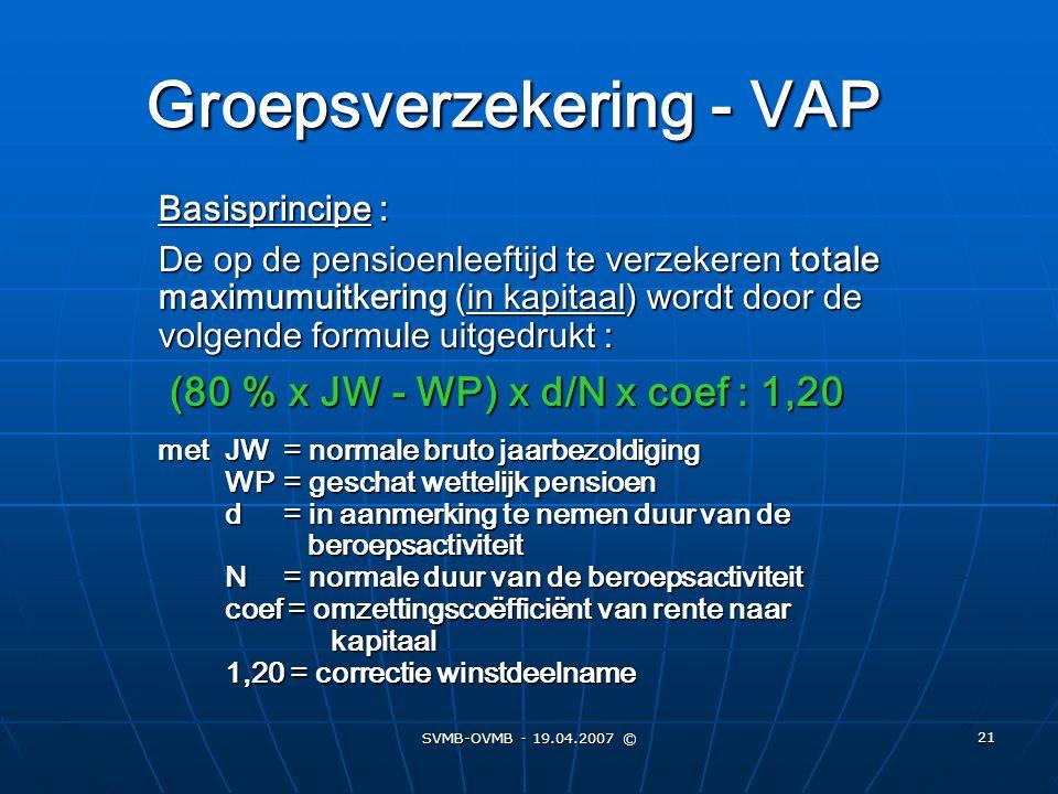 Groepsverzekering - VAP