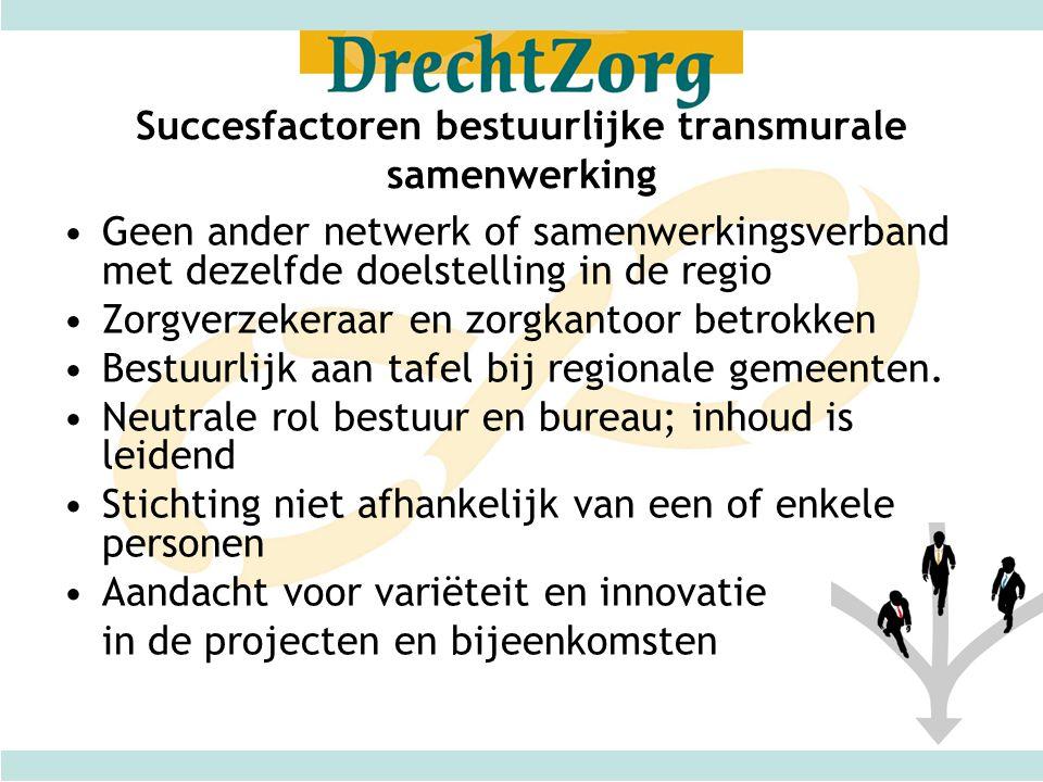 Succesfactoren bestuurlijke transmurale samenwerking