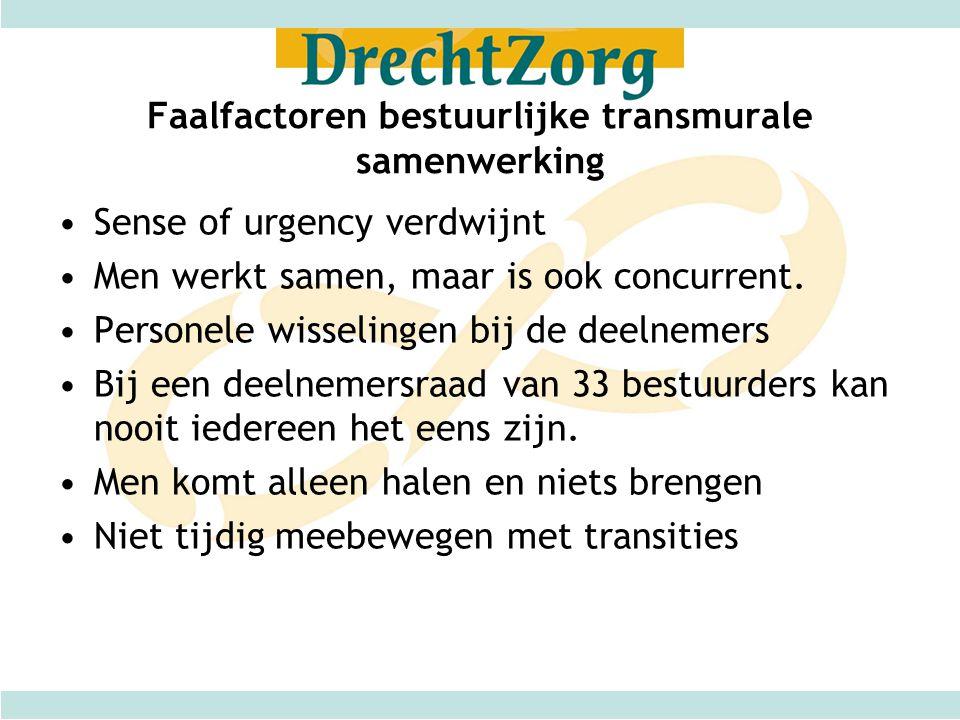 Faalfactoren bestuurlijke transmurale samenwerking