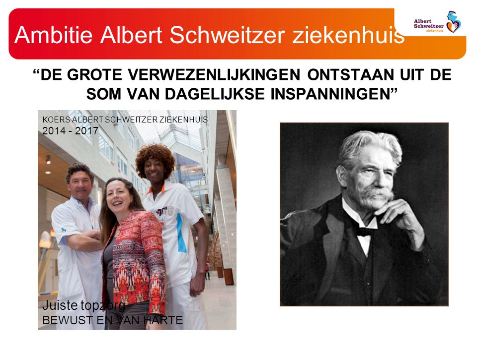 Ambitie Albert Schweitzer ziekenhuis