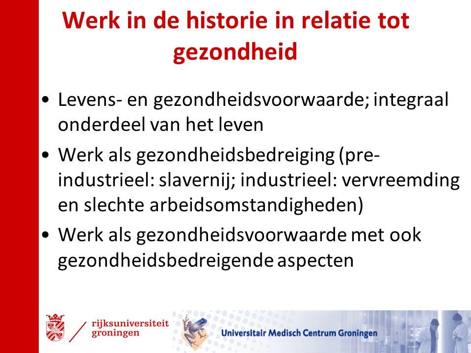 Werk in de historie in relatie tot gezondheid