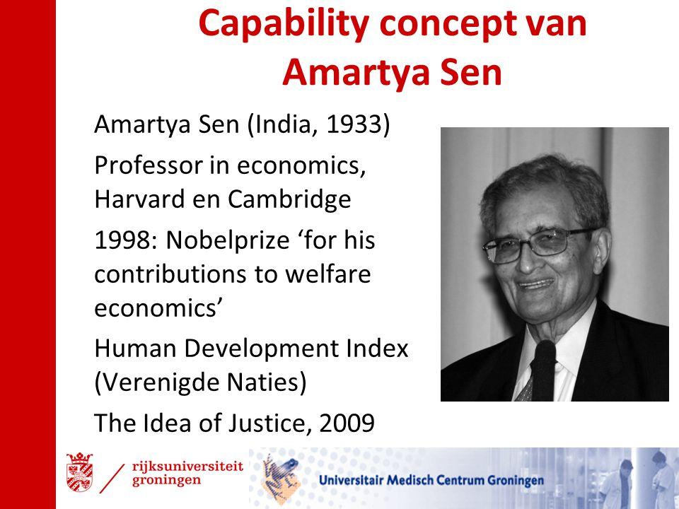 Capability concept van Amartya Sen