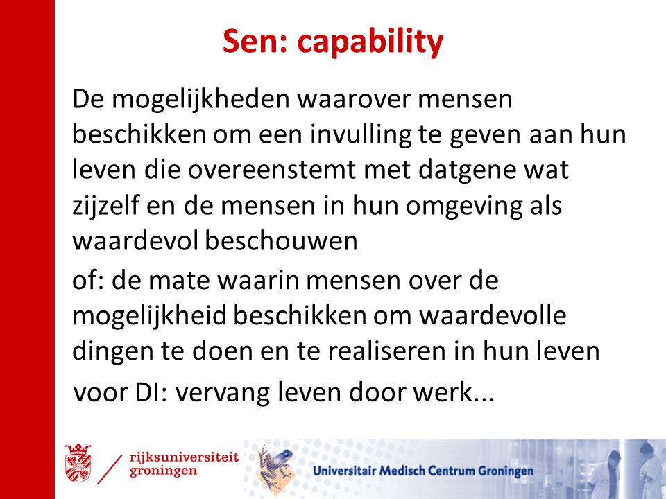 Sen: capability