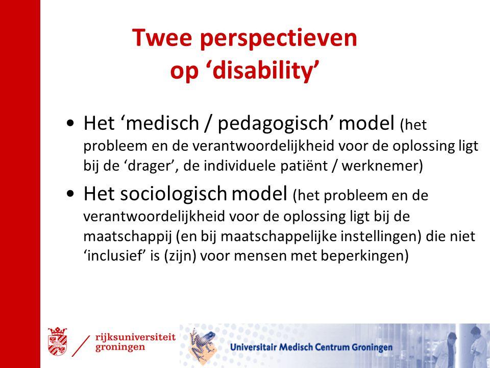 Twee perspectieven op 'disability'