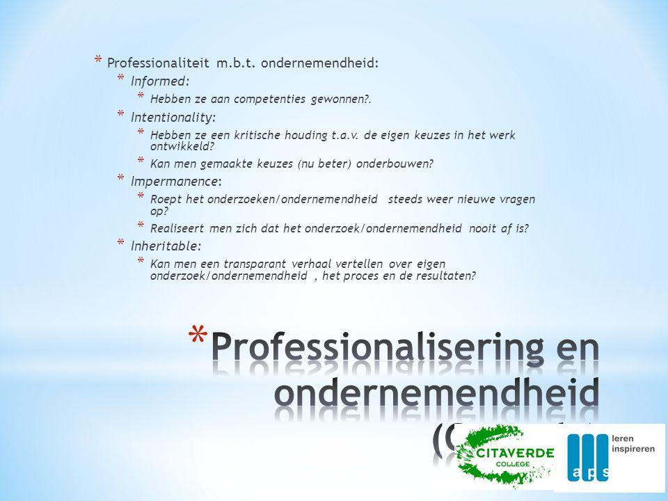 Professionalisering en ondernemendheid (Coppola)