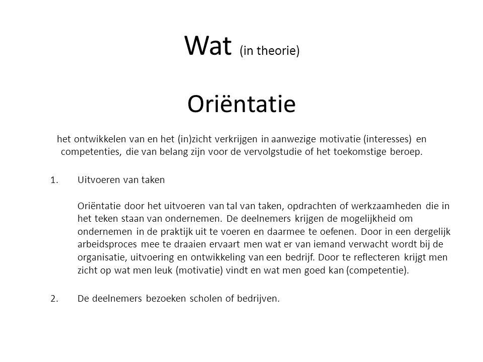 Wat (in theorie)