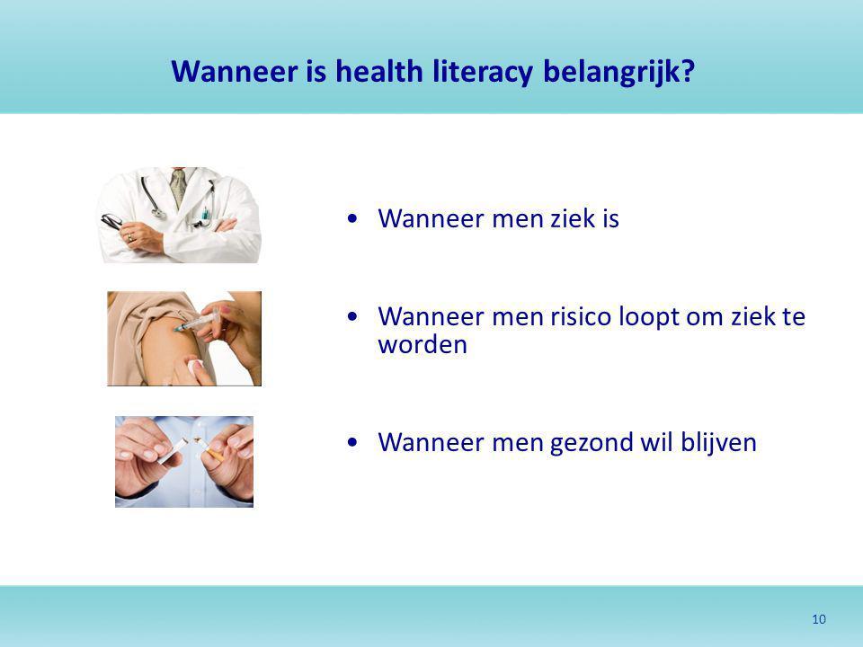 Wanneer is health literacy belangrijk