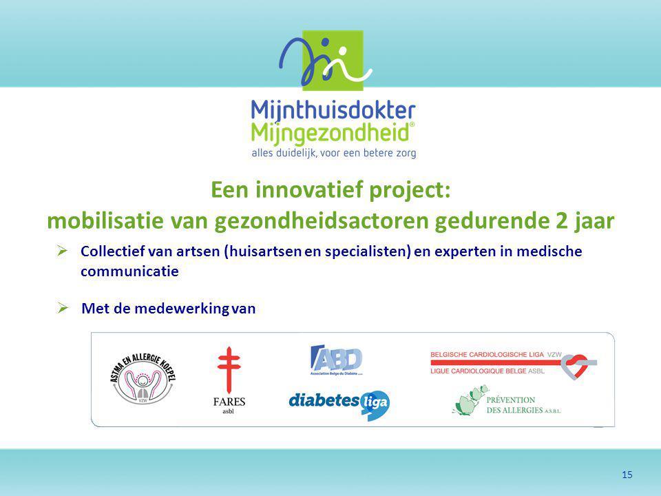 Een innovatief project: mobilisatie van gezondheidsactoren gedurende 2 jaar