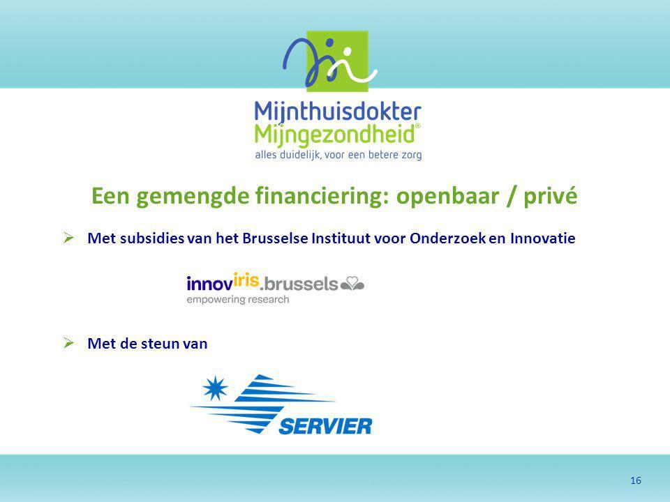 Een gemengde financiering: openbaar / privé