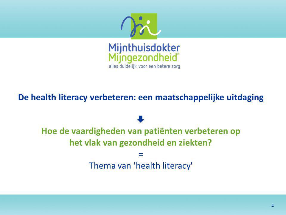De health literacy verbeteren: een maatschappelijke uitdaging