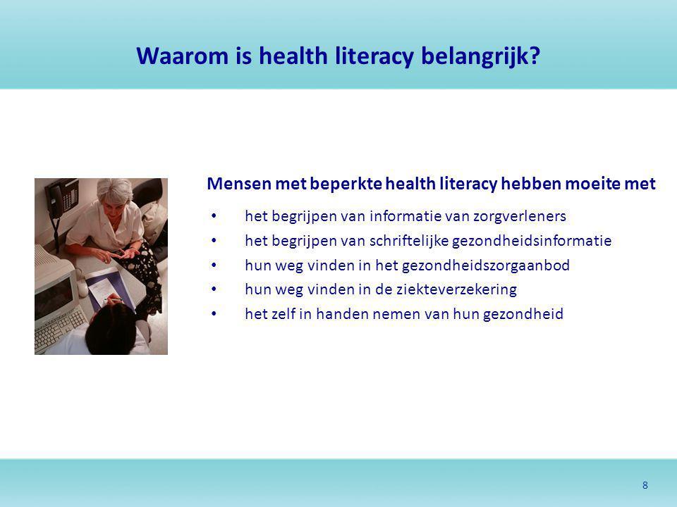 Waarom is health literacy belangrijk