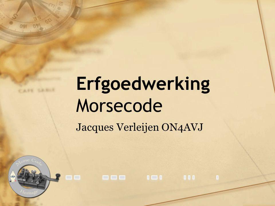 Erfgoedwerking Morsecode