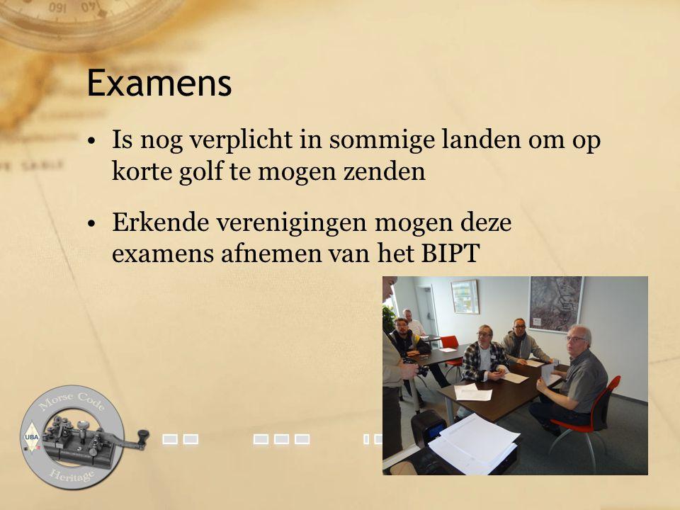 Examens Is nog verplicht in sommige landen om op korte golf te mogen zenden.