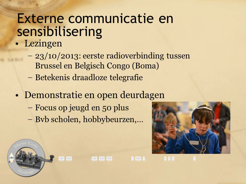 Externe communicatie en sensibilisering
