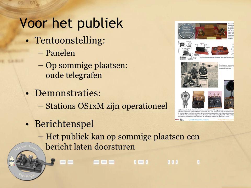 Voor het publiek Tentoonstelling: Demonstraties: Berichtenspel Panelen