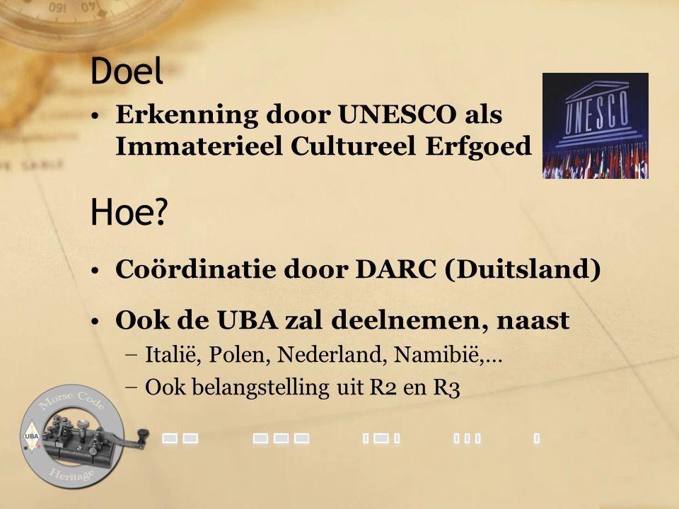 Doel Hoe Erkenning door UNESCO als Immaterieel Cultureel Erfgoed