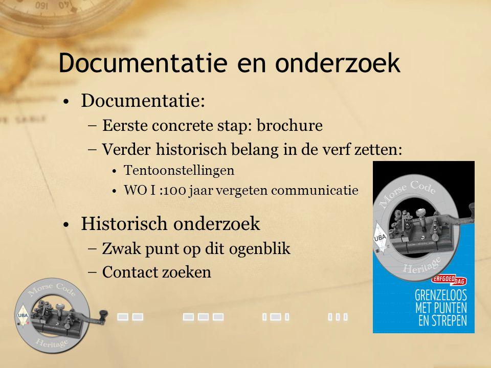 Documentatie en onderzoek