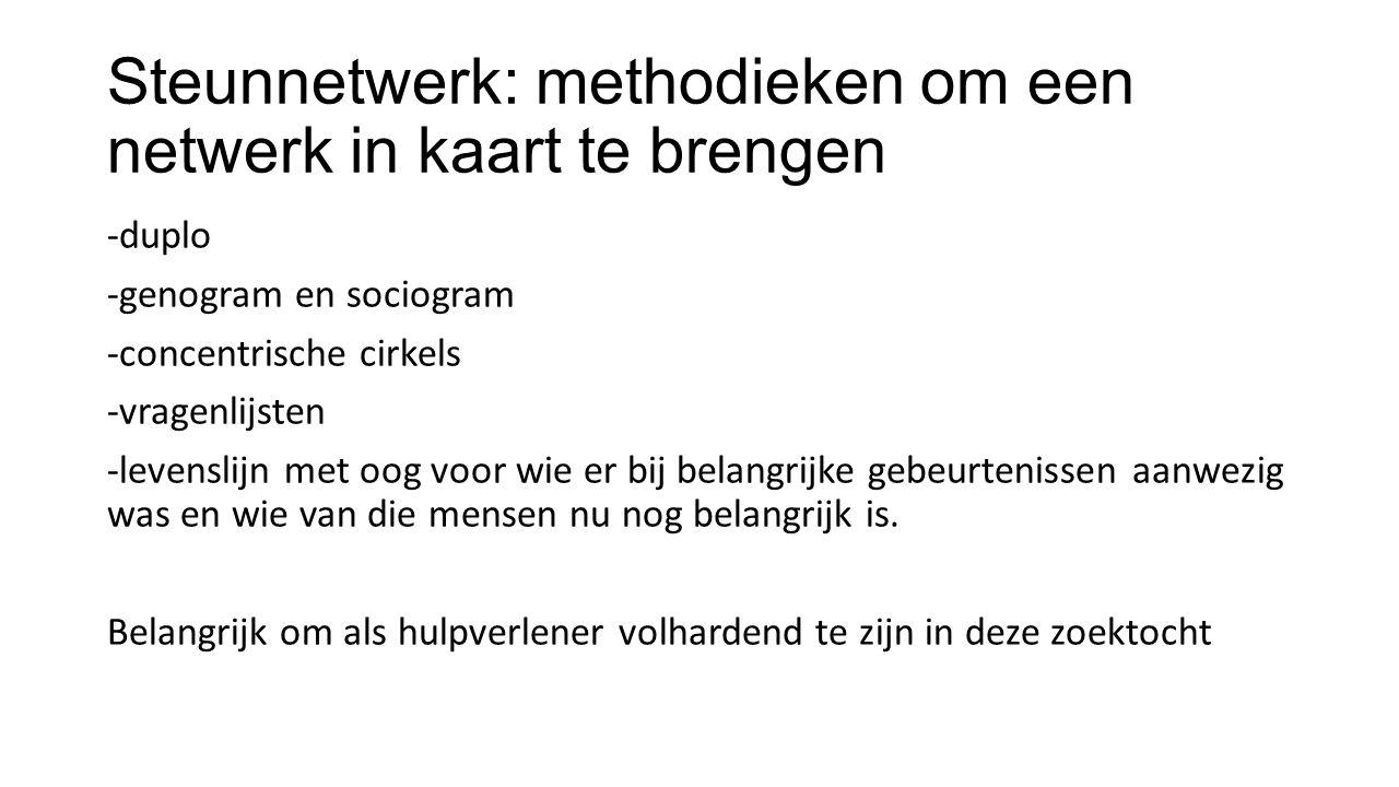 Steunnetwerk: methodieken om een netwerk in kaart te brengen