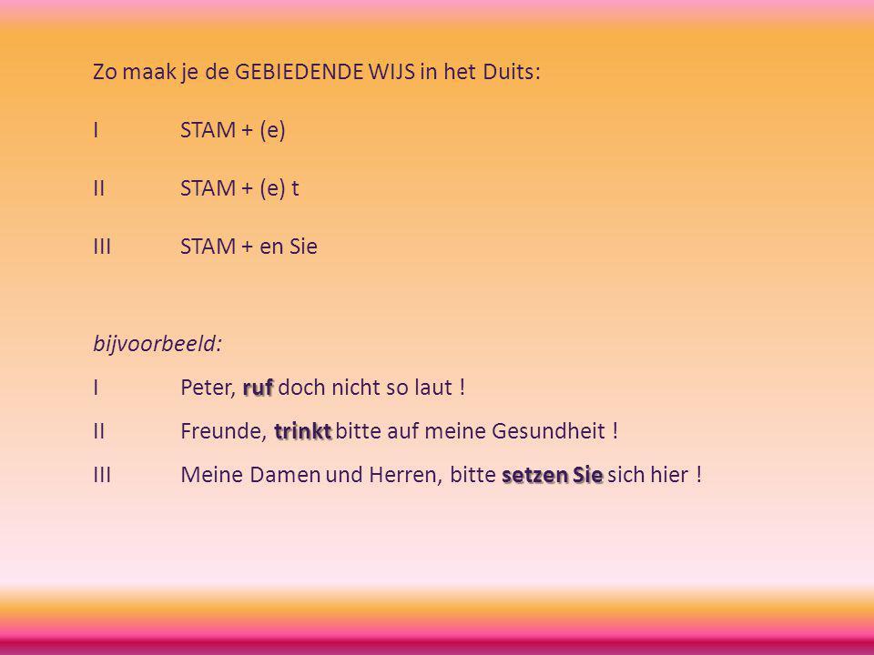 Zo maak je de GEBIEDENDE WIJS in het Duits:
